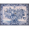 ASK 1583 Traditional Flowers Vase Tiles Panel