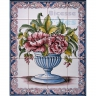 ASK 1584 Traditional Flowers Vase Tiles Panel