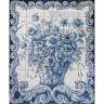 ASK 1586 Traditional Flowers Vase Tiles Panel