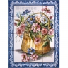 ASK 1587 Traditional Flowers Basket Tiles Panel