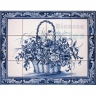 ASK 1588 Traditional Flowers Basket Tiles Panel