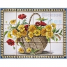 ASK 1590 Traditional Flowers Basket Tiles Panel