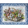 ASK 1591 Traditional Flowers Basket Tiles Panel