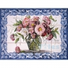 ASK 1592 Traditional Flowers Glass Pot Tiles Panel