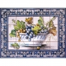 ASK 1594 Fruits Grapes Vase Tiles Panel