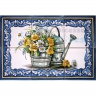 ASK 1595 Watering Pot Plants Flowers Tiles Panel