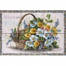 ASK 1596 Traditional Flowers Basket Tiles Panel