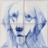 ASK 1649 Dog Animals Tiles Mural