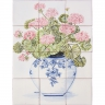 ASK 1652 Flowers Vase Tiles Mural