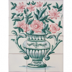 ASK 1653 Flowers Vase Tiles Mural