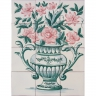 ASK 1653 Flowers Vase Tiles Mural