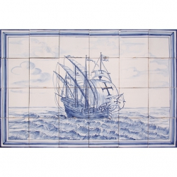 ASK 1654 Sea Caravel Tiles Mural