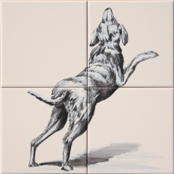 ASK 1661 Dog Animals Tiles Mural