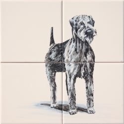 ASK 1662 Dog Animals Tiles Mural