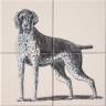 ASK 1663 Dogs Animals Tiles Mural