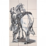 ASK 1664 Horses Animals Tiles Mural