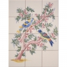 ASK 1666 Garden birds tiles panel