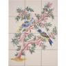 ASK 1666 Garden birds tiles panel