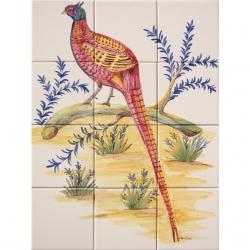 ASK 1667 Garden bird tiles panel