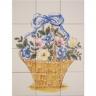 ASK 1668 flowers vase tiles panel