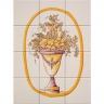 ASK 1669 flowers vase tiles panel