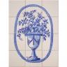 ASK 1671 flowers vase tiles panel