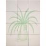 ASK 1673 flowers vase tiles panel