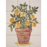 ASK 1675 oranges vase tiles panel
