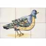 ASK 1681 Garden bird tiles panel