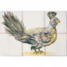 ASK 1682 Garden bird tiles panel