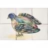 ASK 1683 Garden bird tiles panel