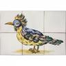 ASK 1684 Garden bird tiles panel