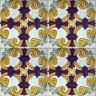 ASK 2405 Portuguese handmade majolica tile
