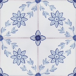 2115 Portuguese Neoclassical painted tiles