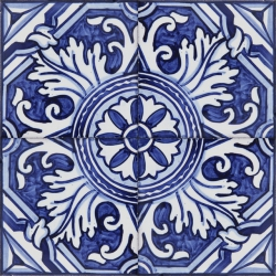 ASK 2163 Portuguese traditional repetitive patterns painted tiles