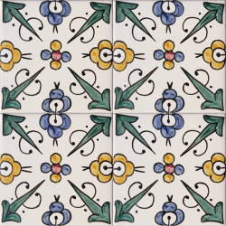 ASK 2174 Moroccan Traditional Painted Tiles