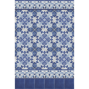 2209 Portuguese Bicesse Tiles from Portugal - Wall composition