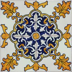 2520 Portuguese handmade majolica tile
