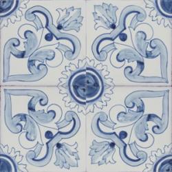 2303 Portuguese handmade majolica tile