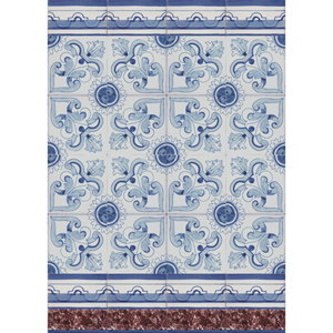 2303 Portuguese Bicesse Tiles from Portugal - Traditional decorative hand painted ceramic azulejo