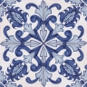 2304 Portuguese handmade majolica tile