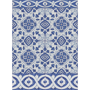 2305 Portuguese Bicesse Tiles from Portugal - Traditional decorative hand painted ceramic azulejo