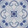 2308 Portuguese handmade majolica tile