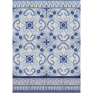 2308 Portuguese Bicesse Tiles from Portugal - Traditional decorative hand painted ceramic azulejo