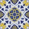 2316 Portuguese handmade majolica tile
