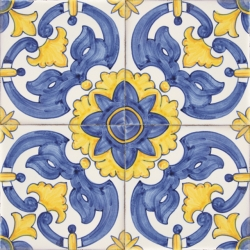 2403 Portuguese handmade majolica tile