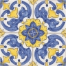 2403 Portuguese handmade majolica tile