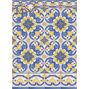 2403 Portuguese Bicesse Tiles from Portugal - Traditional decorative hand painted ceramic azulejo