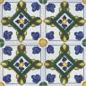 2416 Portuguese handmade majolica tile