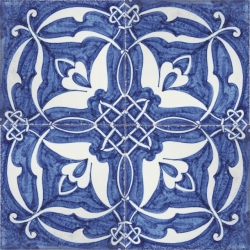 2418 Portuguese Spanish Moorish Tiles Wall Decorative Ceramic Blue Islamic Flowers on internal home designs
